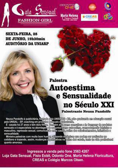 "9a2b619f9 Hoje  Palestra  ""Sensualidade e Autoestima"" no teatro da UNIARP ..."